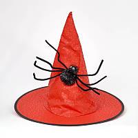 Шляпа Ведьмы с большим пауком  цвета в ассортименте