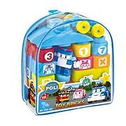 """Конструктор пластиковый """"Робокар Поли"""", 30 деталей 990-007, в сумке"""