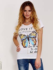 Женская футболка с надписью i love it