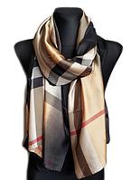 Шелковый шарф Барбара, 190*100, бежевый