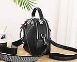 Міні сумочка рюкзак жіночий 2 в 1 в стилі Prada. Жіноча маленька сумка рюкзак Прада., фото 3