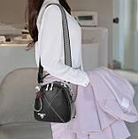 Міні сумочка рюкзак жіночий 2 в 1 в стилі Prada. Жіноча маленька сумка рюкзак Прада., фото 4