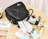 Міні сумочка рюкзак жіночий 2 в 1 в стилі Prada. Жіноча маленька сумка рюкзак Прада., фото 6