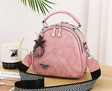 Мини сумочка рюкзачок женский 2 в 1 в стиле Prada. Женская маленькая сумка рюкзак Прада. Розовый