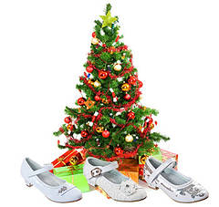 Детские новогодние праздничные туфли для девочек