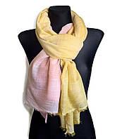 Легкий шарф Палермо из вискозы и хлопка, желтый/персик