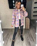 Теплая женская рубашка в клетку 11-340, фото 6