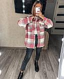 Теплая женская рубашка в клетку 11-340, фото 4