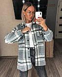 Теплая женская рубашка в клетку 11-340, фото 8