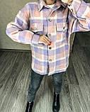 Теплая женская рубашка в клетку 11-340, фото 3