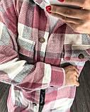 Теплая женская рубашка в клетку 11-340, фото 7