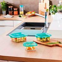 """Стеклянный пищевой контейнер Luminarc """"Keep`N"""" квадратный с крышкой 380 мл (P5522), фото 1"""
