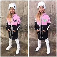 Подростковые кофты Худи на молнии оптом для девочки модель 2037, фото 1