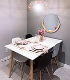 Стол обеденный Nolan белый / бук 120х80 см SIGNAL, фото 3