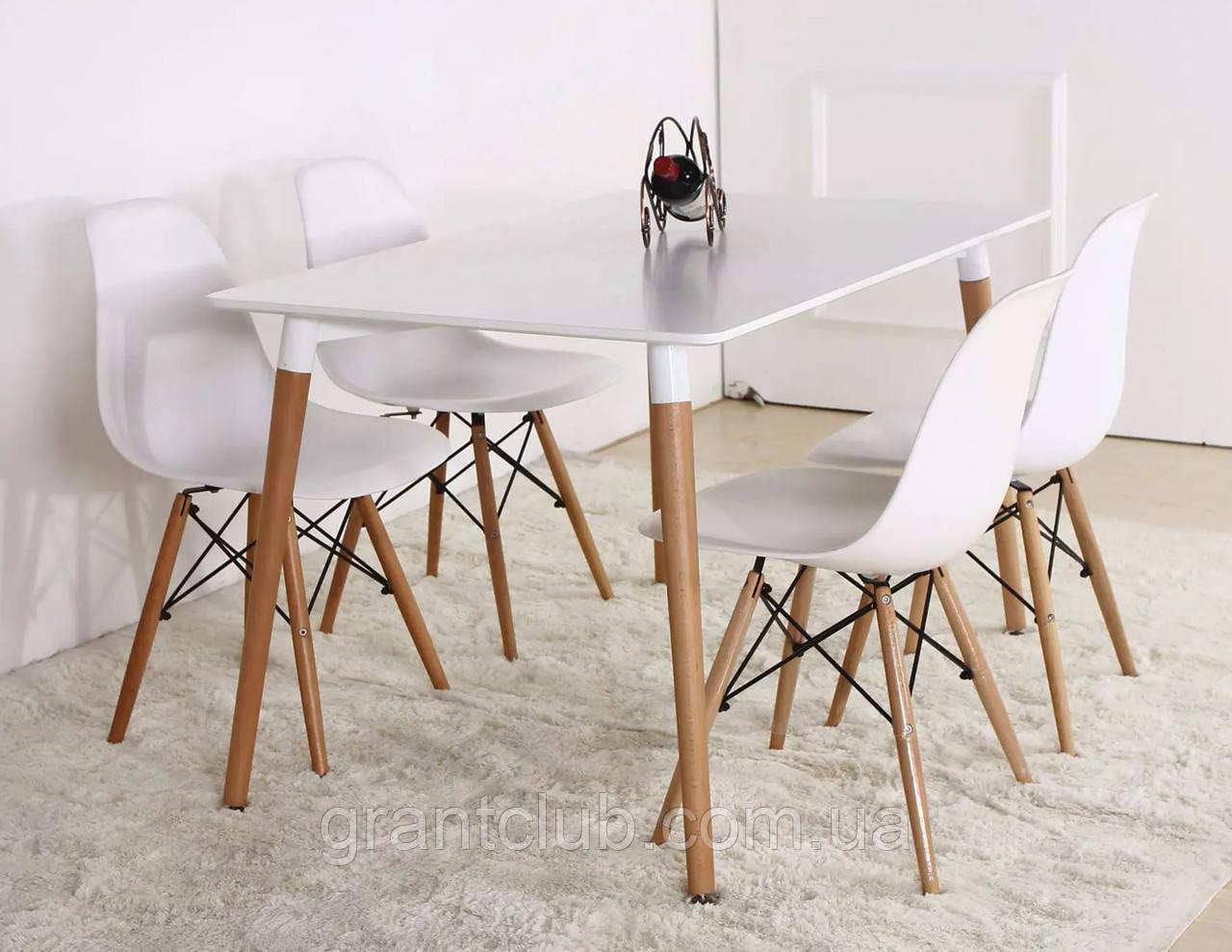 Стол обеденный Nolan белый / бук 120х80 см SIGNAL