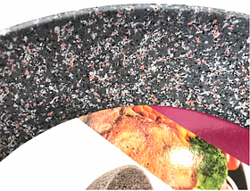 Сковорідка Benson з гранітним покриттям Soft Touch 22 см, фото 2