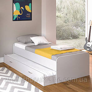 Кровать (с дополнительным выдвижным местом) Аляска Белая