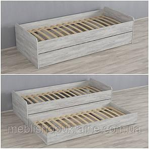 Кровать (с дополнительным выдвижным местом) Бетон Урбан