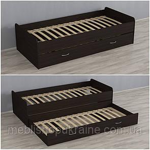 Кровать (с дополнительным выдвижным местом) Венге Темный