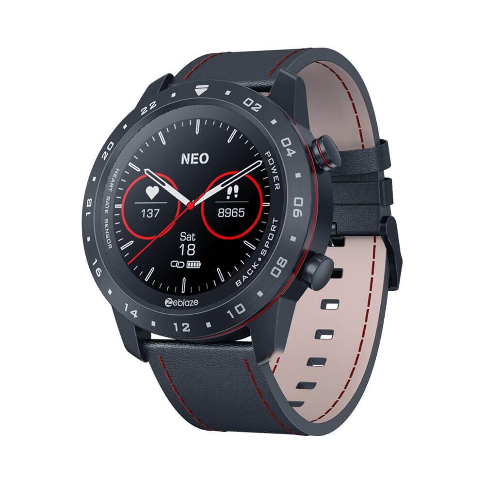 Смарт-часы Zeblaze Neo 2 с тонометром Черные (145-1)