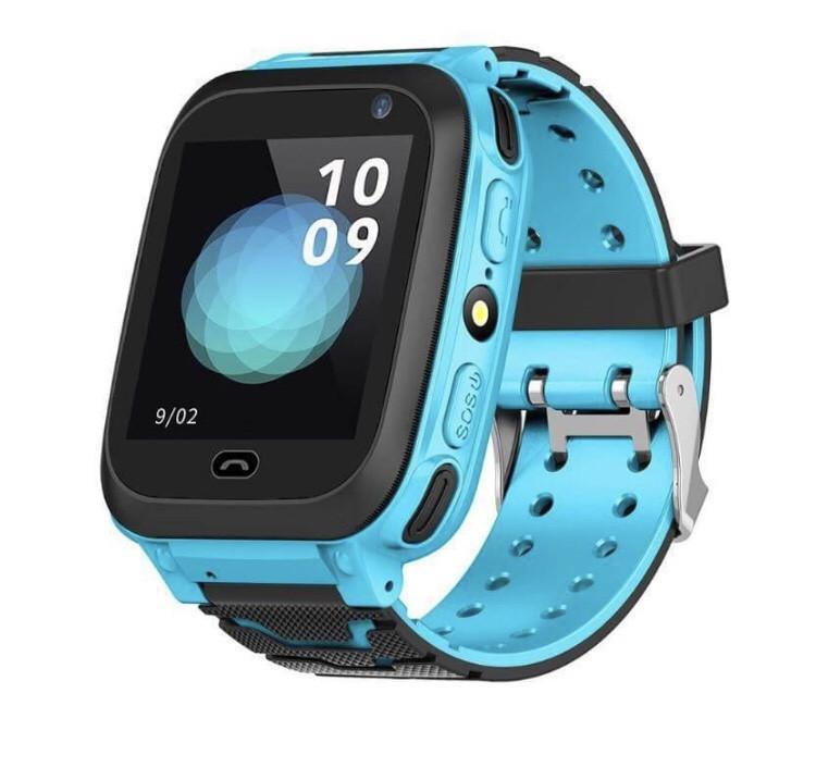 Детские умные часы Smart F3 с GPS с фонариком Blue (300657BL)