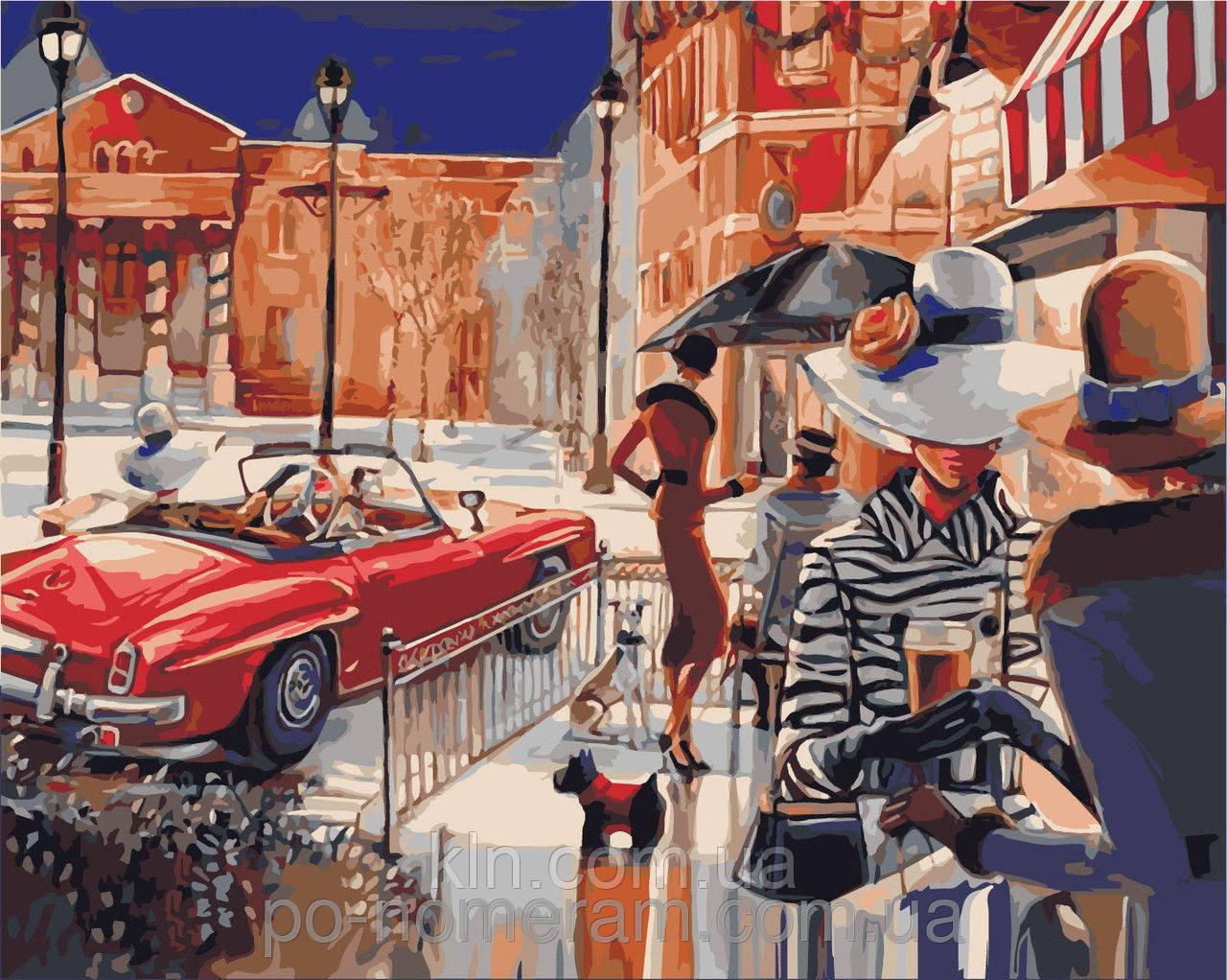 Картина по номерам Идейка КН2121 Городская жизнь 40 х 50 см 950