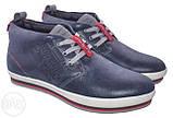 Зима! Супер качество в стиле  Levis! синие теплые мужские ботинки кожа Левис, фото 2
