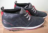 Зима! Супер качество в стиле  Levis! синие теплые мужские ботинки кожа Левис, фото 4