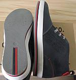 Зима! Супер качество в стиле  Levis! синие теплые мужские ботинки кожа Левис, фото 7