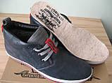 Зима! Супер качество в стиле  Levis! синие теплые мужские ботинки кожа Левис, фото 8
