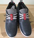 Зима! Супер качество в стиле  Levis! синие теплые мужские ботинки кожа Левис, фото 9