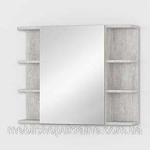 Тумба навесная с зеркалом Бетон Урбан