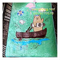 Детский теплый двойной плед одеяло отличное качество 105х120