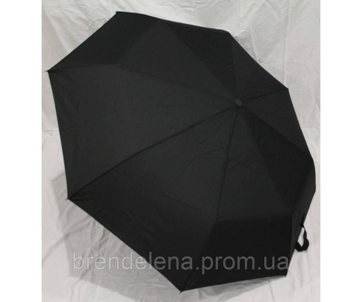 Зонт в 3 сложения полуавтомат чёрный