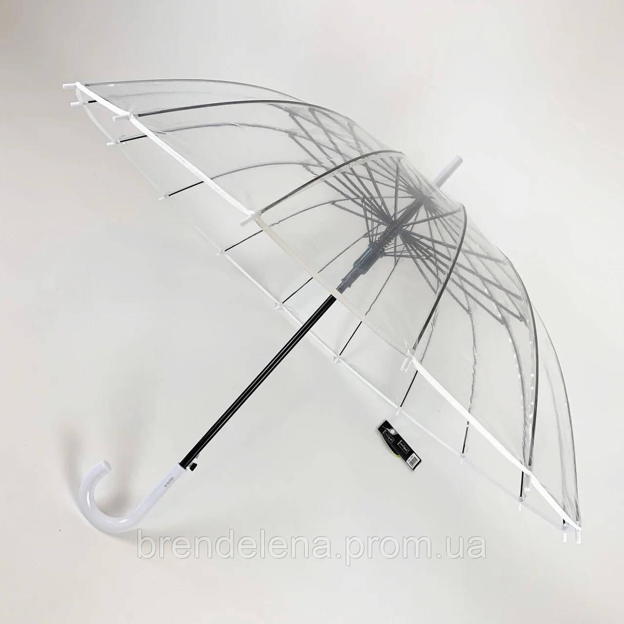 Зонт трость прозрачный  .