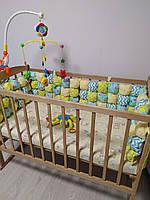 """Бортики в кроватку """"Бомбон"""" на 4 стороны кроватки, защита в детскую кроватку"""
