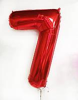 Цифра фольгированная Красная с гелием 100 см (от 0 до 9) (поштучно) Китай на Оболони, Минский массив