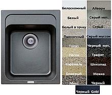 Мийка кухонна гранітна Platinum KORRADO 4050 матова (19 різних варіантів кольору)