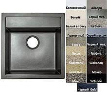 Мийка кухонна гранітна Platinum FIESTA 5149 матова (19 різних варіантів кольору)