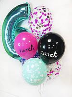 """Готовый набор шаров с гелием №12 """"Тик Ток"""""""
