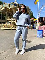 Женский теплый спортивный костюм №с41504.1 (р.42-56) серый, фото 1