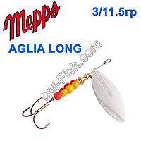 Блешня Mepps Aglia long srebrna-silver 3/11,5 g