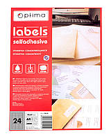 Этикетки самоклеющиеся 24 штуки Optima O25115