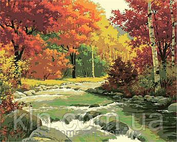 Картина за номерами Набір БЕЗ ФАРБ! КН2125 Золота осінь 40 х 50 см