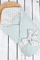 """Велюровый конверт-одеяло """"Tessera"""" MagBaby сизый"""