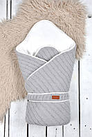 "Вязанный конверт-одеяло ""Косы"" MagBaby серый"