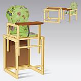Стульчик для кормления деревянный Большой Мася, фото 4