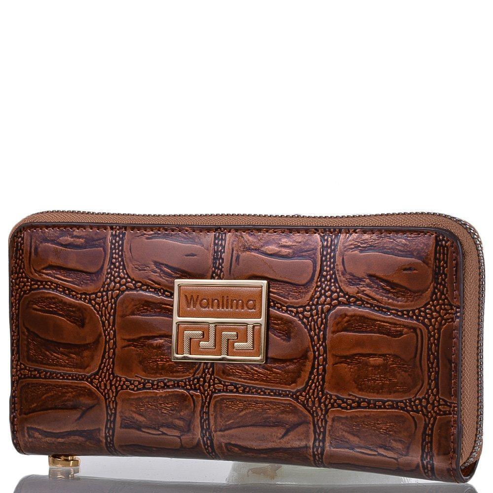 Кошелек-клатч женский кожаный WANLIMA (ВАНЛИМА) W82022340003