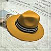 Шляпа фетровая WildJazz Федора в стиле Maison Michel с устойчивыми полями желтая