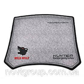 Килимок 300 * 250 тканинної WILD HUNTER WOLF, товщина 2 мм, колір Grey, Пакет